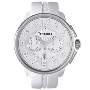 Tendence(テンデンス)GULLIVER ROUND(ガリバーラウンド)クロノグラフTG036013・02036013AA ホワイト