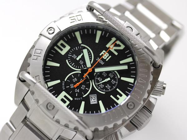 USAGENCY腕時計クロノグラフ文字盤のアップ画像