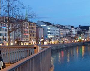 チューリッヒの夜景