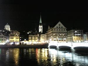 スイス チューリッヒの夜景