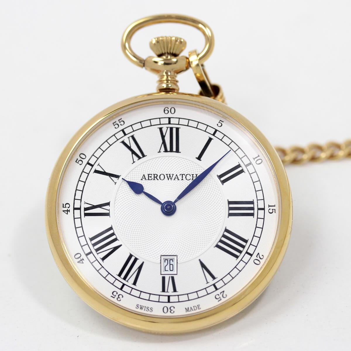 aero(アエロ)のクォーツ懐中時計 25611j201 ゴールドカラー