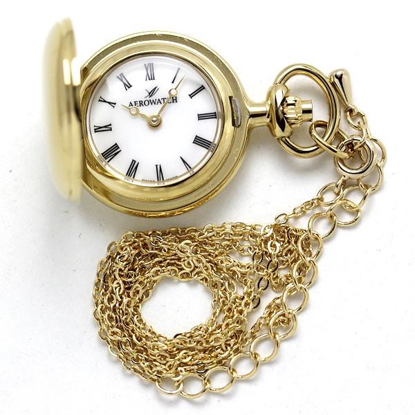 アエロ 懐中時計 ペンダントウォッチ 30816ja01 ゴールドカラー