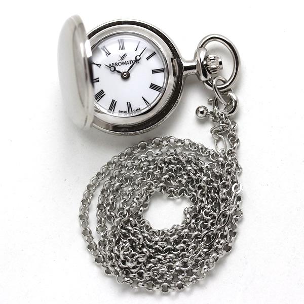 アエロ 懐中時計 ペンダントウォッチ 30816pd01 シルバーカラー