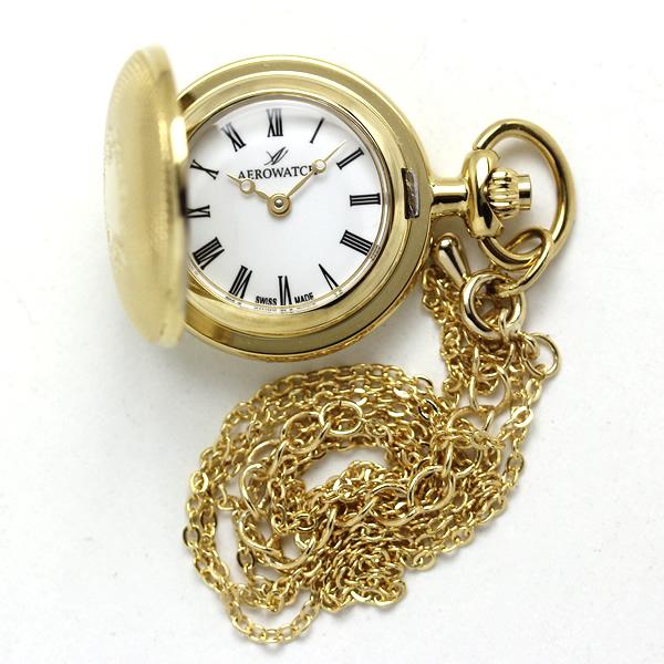 アエロ 懐中時計 ペンダントウォッチ 30817ja01 ゴールドカラー