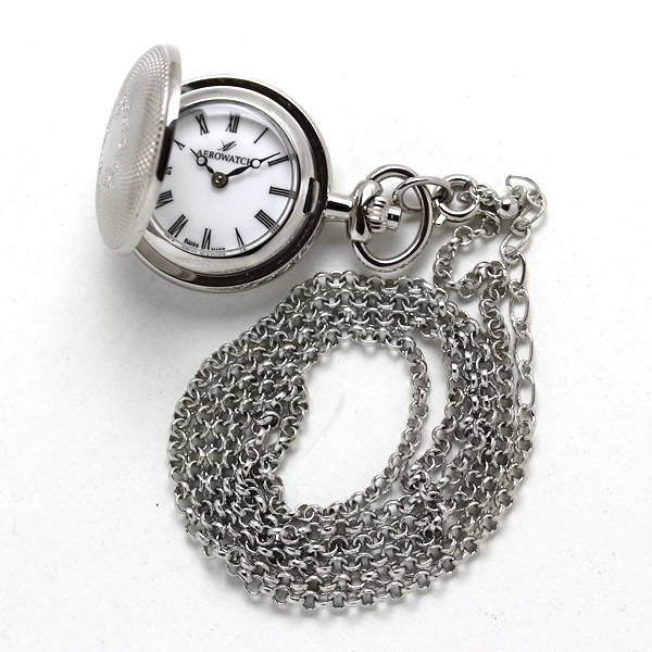 アエロ 懐中時計 ペンダントウォッチ 30817pd01 シルバーカラー