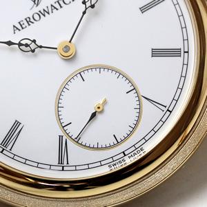 アエロ懐中時計 6時方向にスモールセコンド