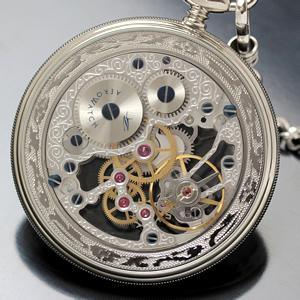 アエロ スケルトン懐中時計 裏面