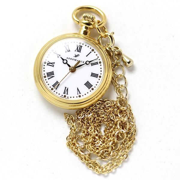 アエロ 懐中時計 ペンダントウォッチ aero04815ja01 シルバーカラー