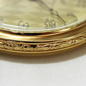 AERO 懐中時計 ケース周りには紋様