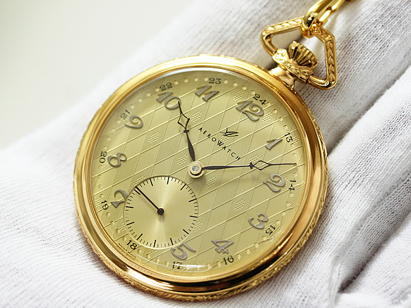 手巻き式懐中時計