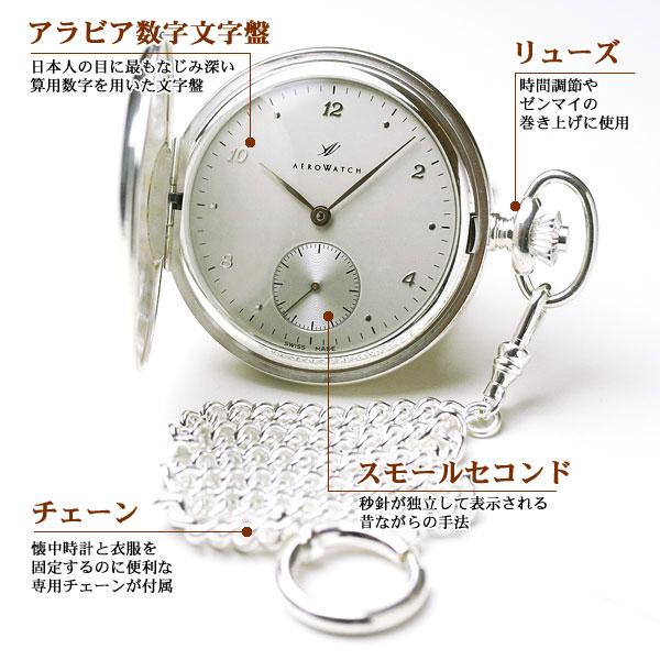aero 手巻き式 懐中時計 機能、スペック