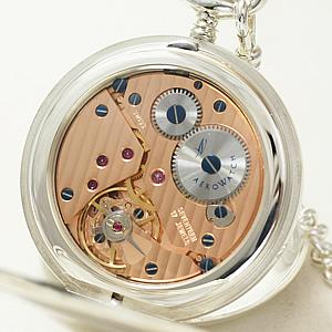 AERO 懐中時計 裏蓋 シースルーバック
