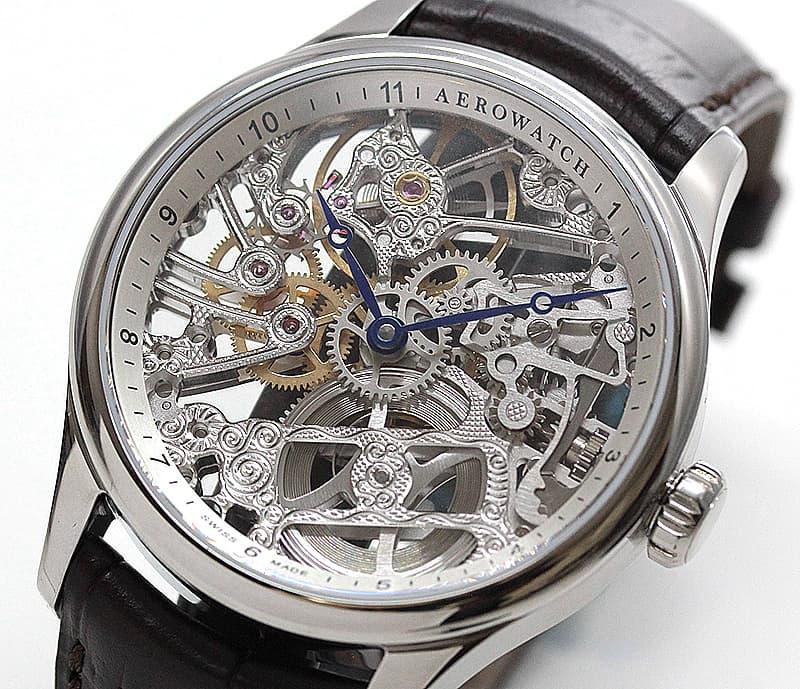 アエロ(AERO) /スケルトン/手巻き式/A50981AA01 ユニタス6497 腕時計