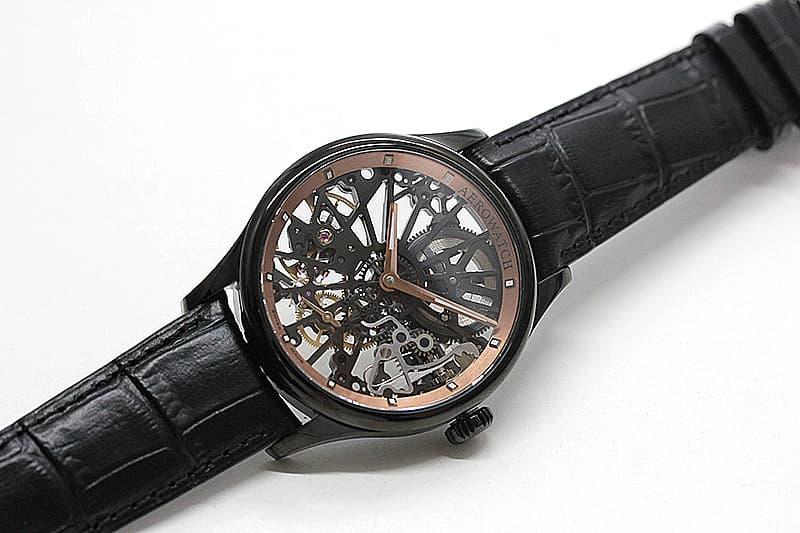 スイス懐中時計の名門ブランドから登場したアエロのスケルトンCobweb腕時計。