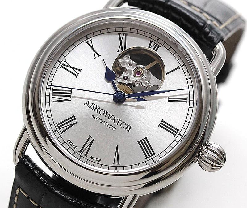 アエロ(AERO) /1942/オープンハート/A68900AA03 シルバーカラー 腕時計