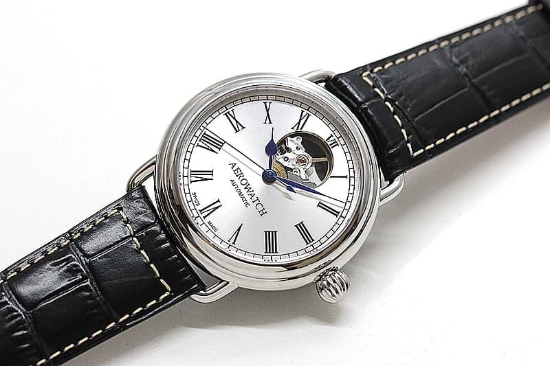 オープンハート 自動巻き 腕時計