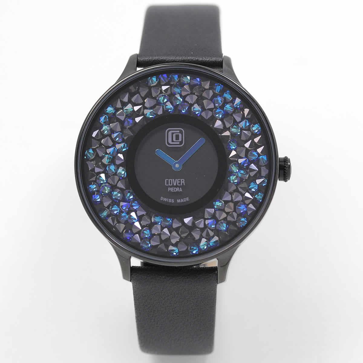 COVER(コヴァ) TREND PIEDRA Co158.04 ブラック 女性用腕時計