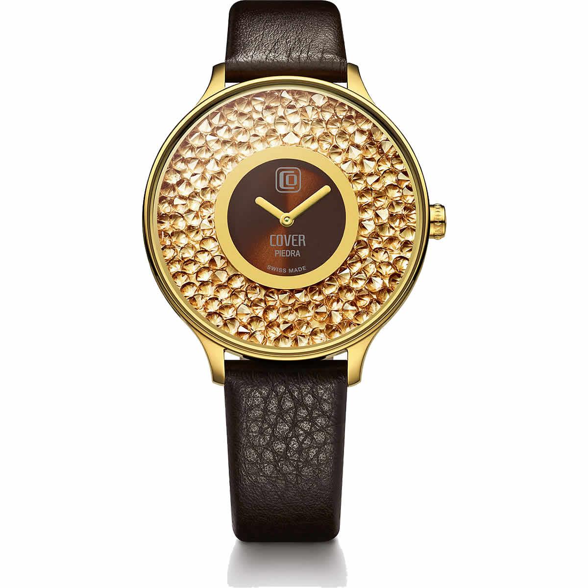 COVER(コヴァ) TREND PIEDRA CO158.06 ゴールド&ブラウン 女性用腕時計