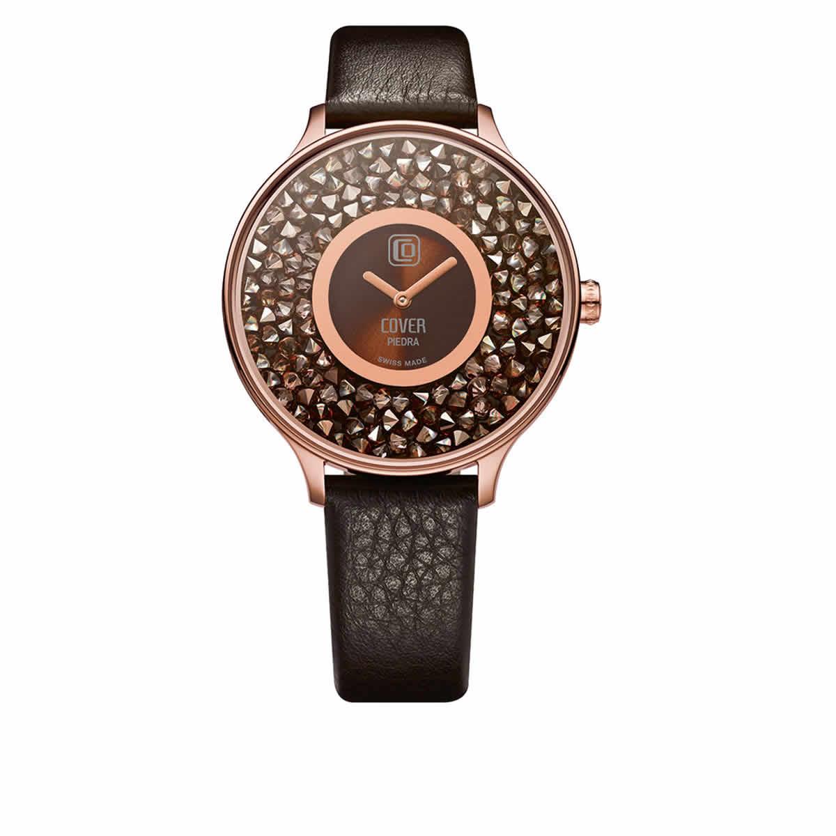 COVER(コヴァ) TREND PIEDRA CO158.07 ダークブラウン 女性用腕時計