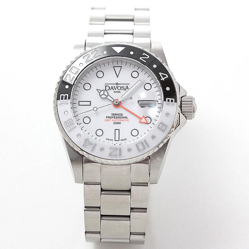 DAVOSA(ダボサ) Ternos GMT Pro(テルノス プロ)/自動巻き/GMTプロ ブラック&ホワイト-/世界限定500本/メンズ/ 161.571.15 腕時計