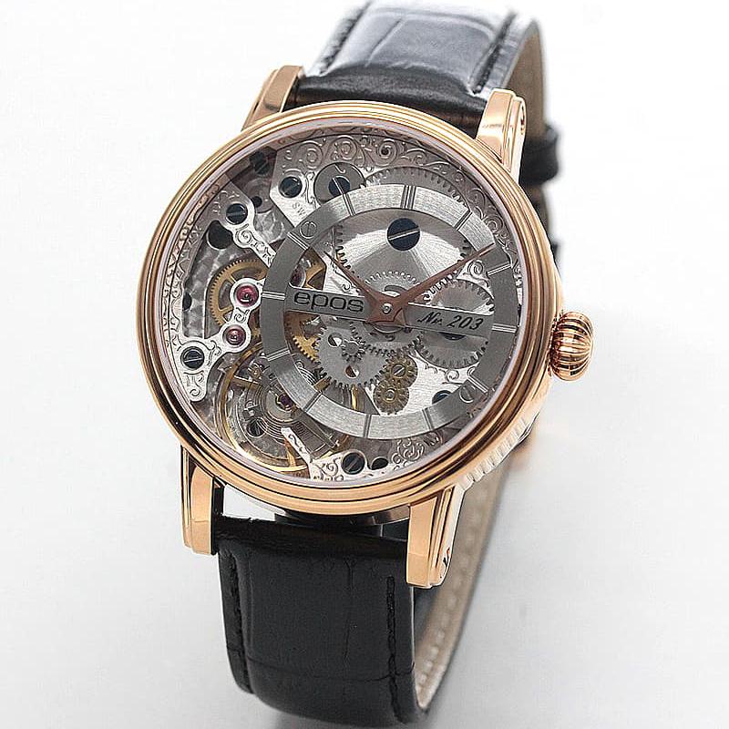 フランス語で「芸術作品」を意味するOEUVRE-DARTシリーズの手巻き式時計。
