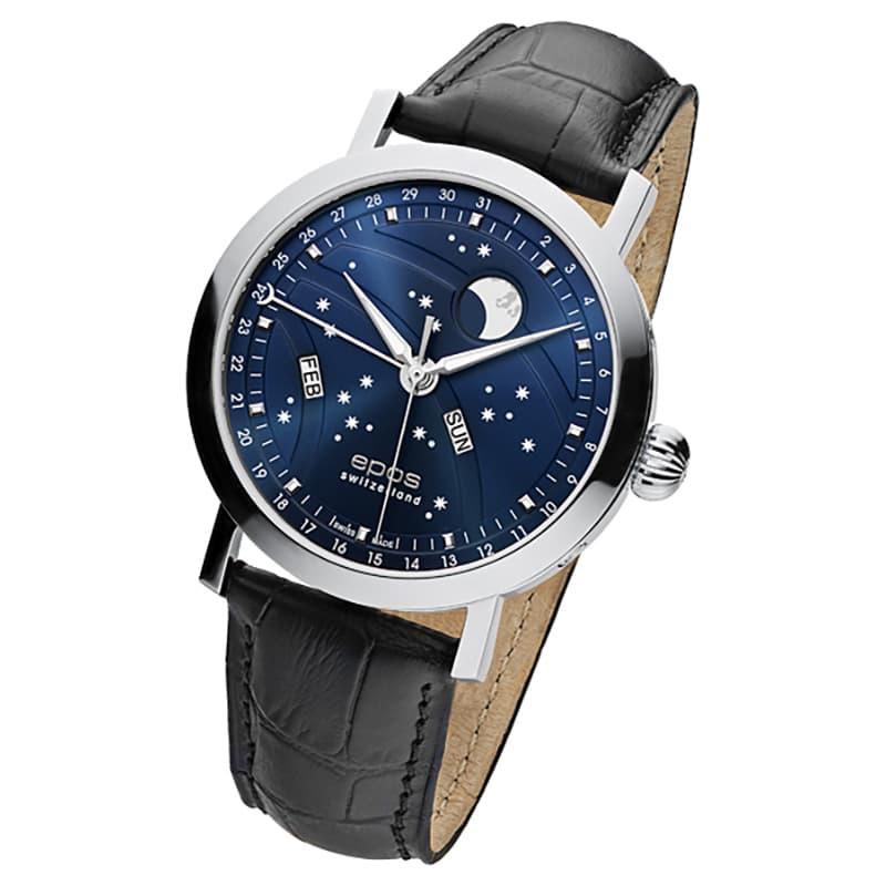 エポス(epos)/OEUVRE D'ART/ビッグムーン(Big Moon)3440BL ブルー 腕時計