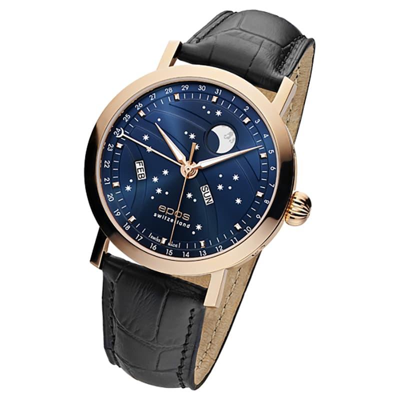 エポス(epos)/OEUVRE D'ART/ビッグムーン(Big Moon)3440RGBL ブルー 腕時計