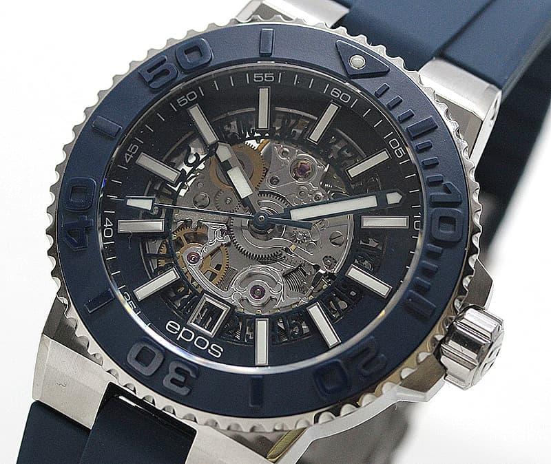 エポス(epos)/SPORTIVE/ダイバーズウォッチ/3441SKBLBLR 腕時計