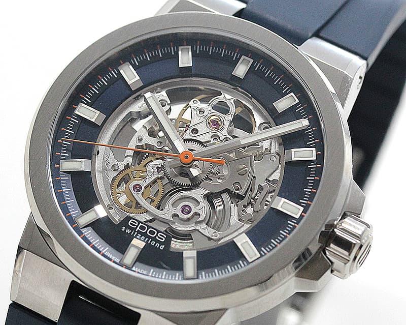 エポス(epos)/SPORTIVE/スケルトンウォッチ/3442SKBLBLR ブルー 腕時計