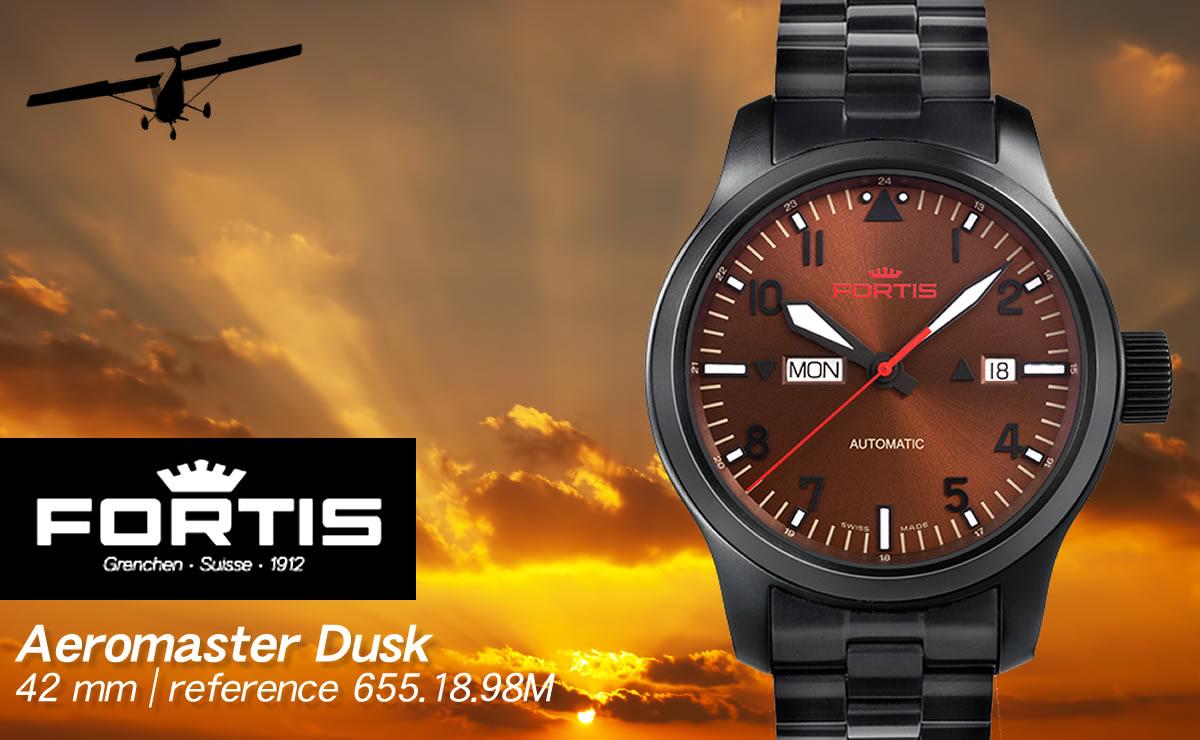 FORTIS(フォルティス)エアロマスター ダスク デイデイト  6551898m
