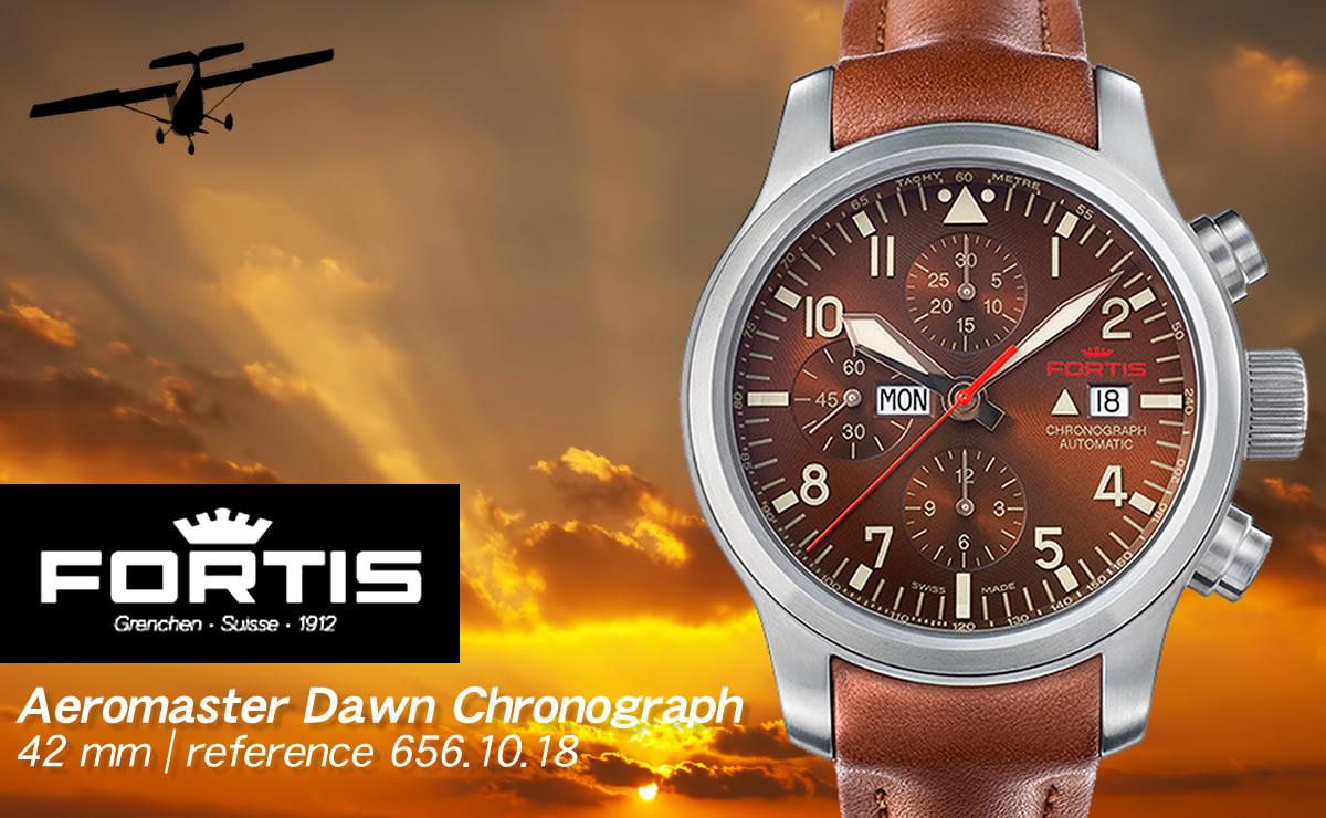FORTIS(フォルティス)エアロマスター ドーン クロノグラフ  6561018