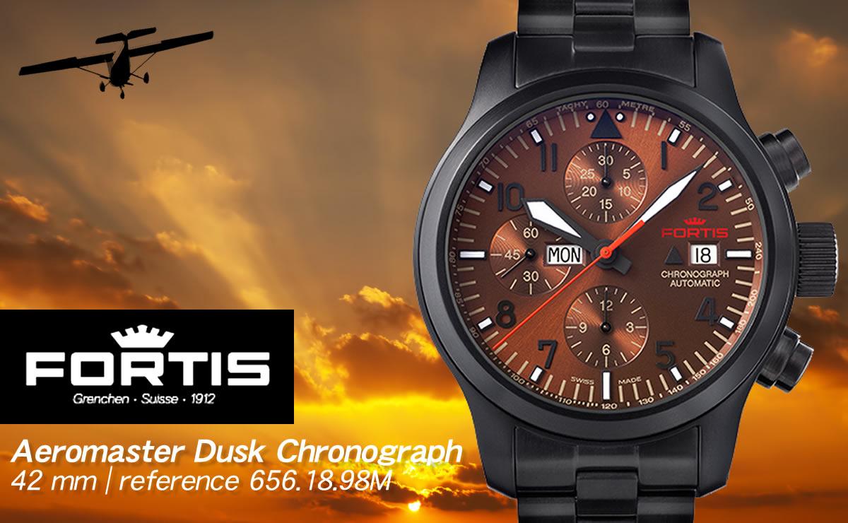 FORTIS(フォルティス)エアロマスター ダスク クロノグラフ  6561898m