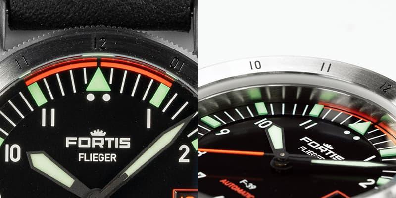 12時位置にはオレンジカラーが特徴的な「シンクロライン」
