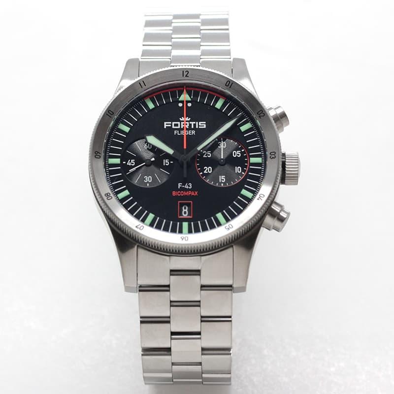 フォルティス 新作 フリーガー 腕時計 バイコンパックス