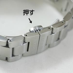 ステンレススティール腕時計