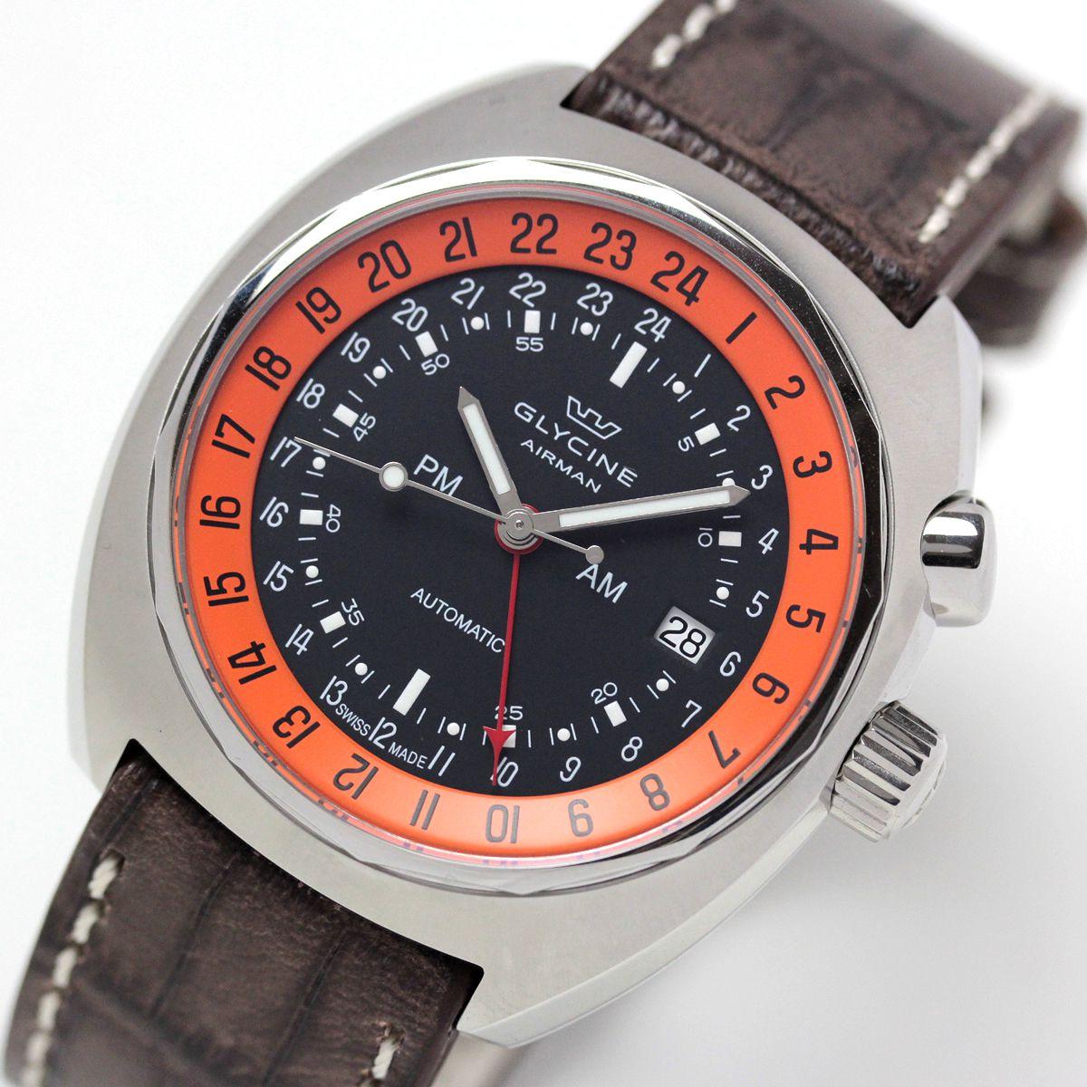 GLYCINE(グライシン) 腕時計ケース裏の刻印
