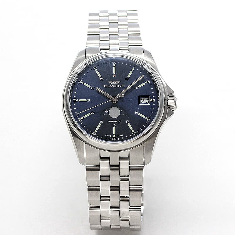 GLYCINE(グリシン) COMBAT CLASSIC(コンバット クラシック)36  自動巻き ムーンフェイズ GL0193 腕時計