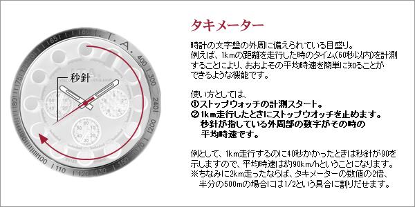 ITA 18.01.02 メンズ腕時計 タキメーターについて