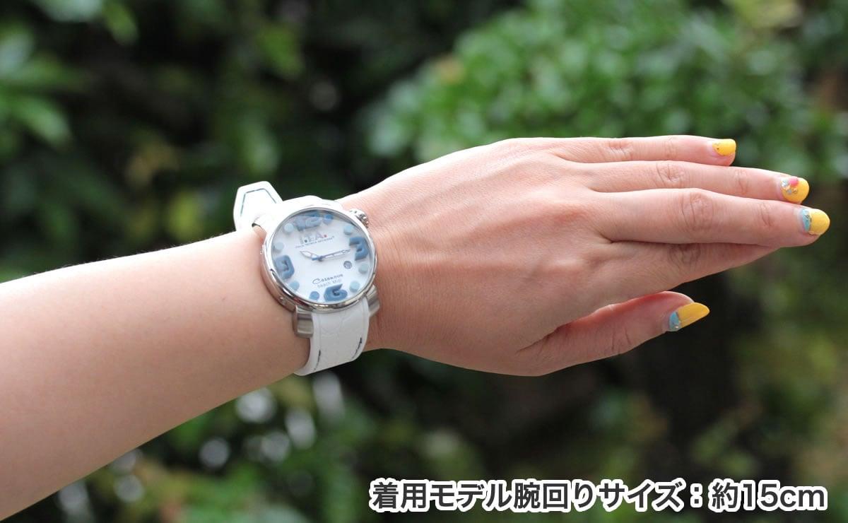 着用モデル腕回り15cm ita190306