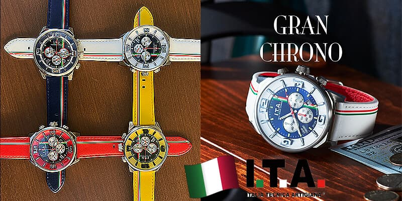 I.T.A.(アイティーエー)グラン クロノ ロッソ腕時計