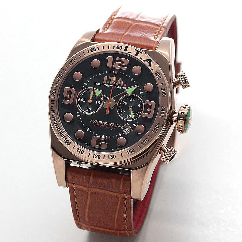 ITA ビーコンパックス B.COMPAX3.0 クロノグラフ腕時計 メンズ イタリアブランド