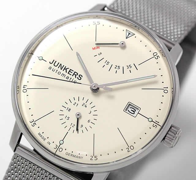 ユンカース腕時計 バウハウス パワーリザーブインジケーター