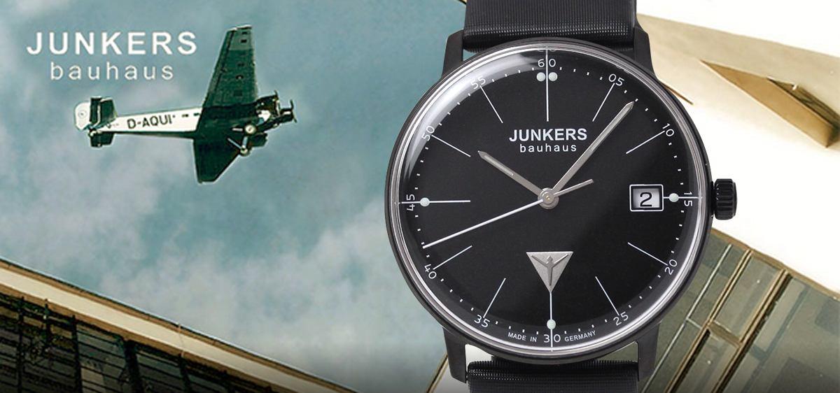 ユンカース Bauhaus バウハウスコレクション ブラックカラーの腕時計