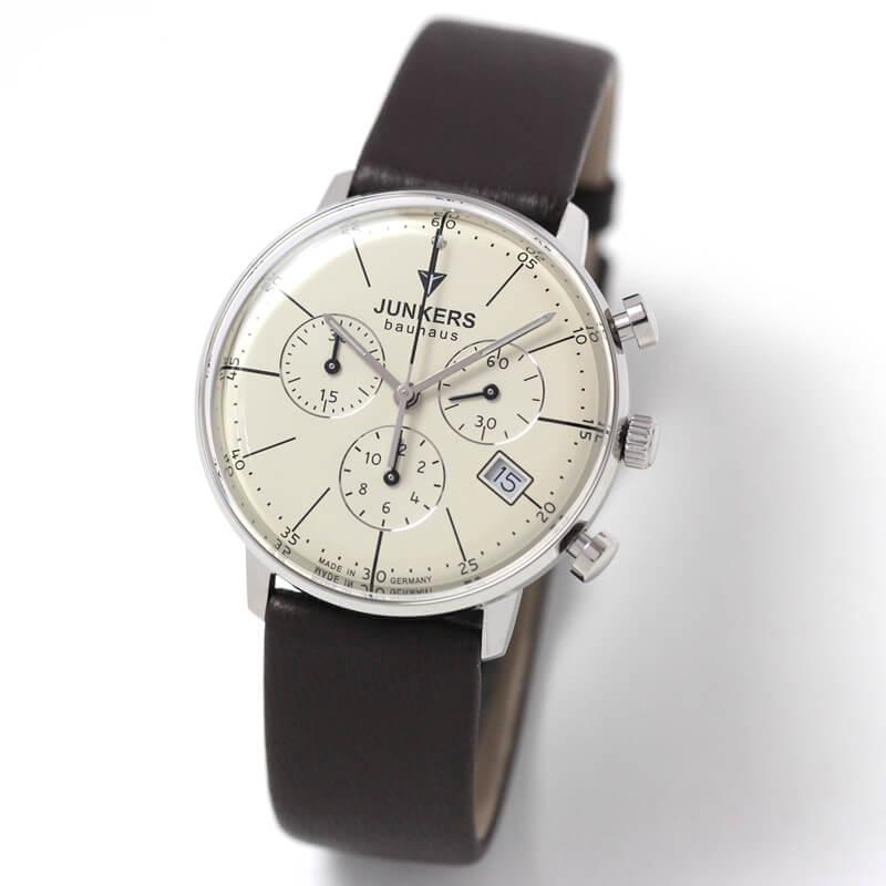 6089-5qz ユンカース(JUNKERS) バウハウス Bauhaus クロノグラフ腕時計 6089-5qz