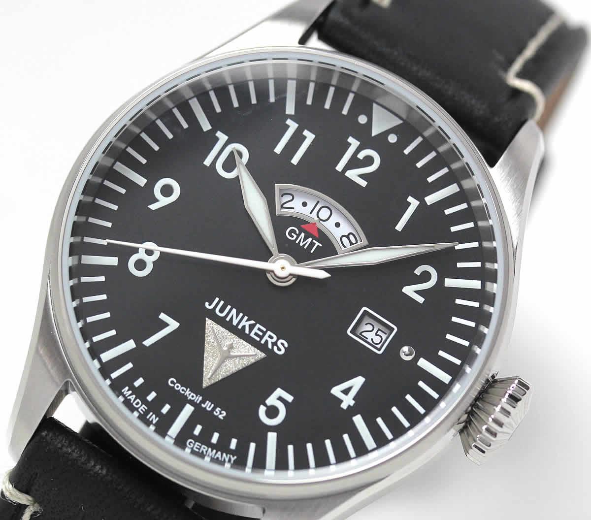 クォーツ式 GMT 腕時計