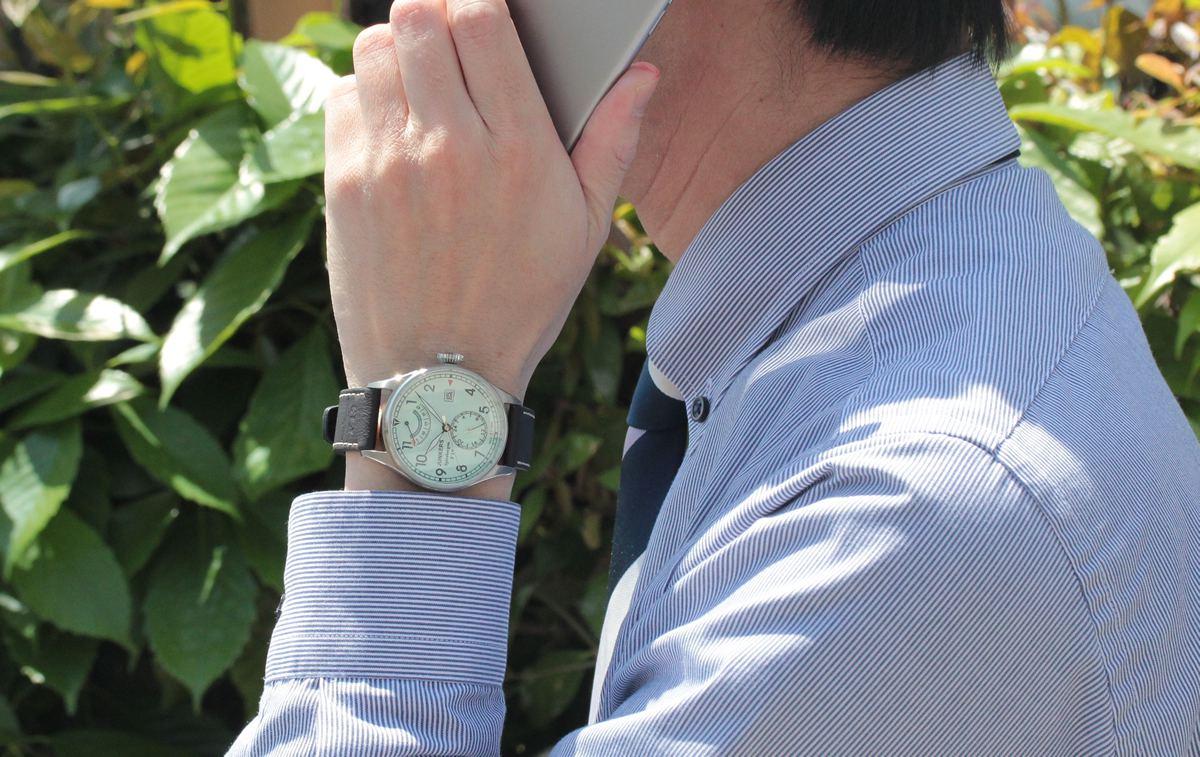 ユンカース腕時計 6160-5at-203572 ビジネスシーンでも活躍する一本です