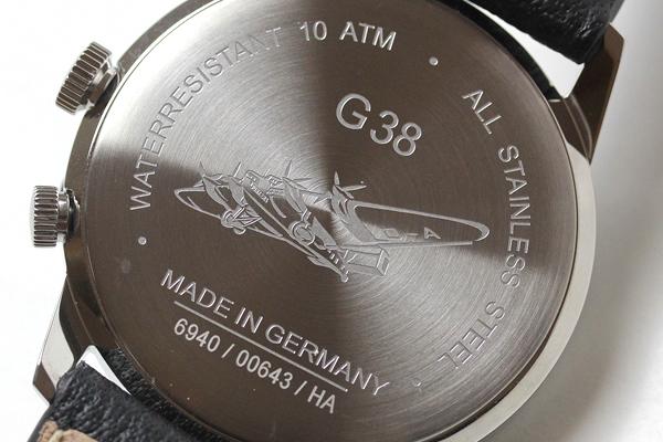 ユンカース 腕時計 本体裏にユンカースG38の刻印