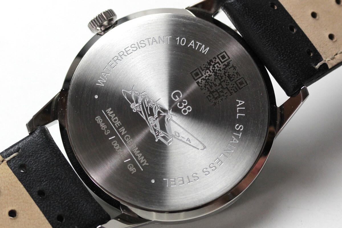 ユンカース腕時計 裏蓋の刻印 G38