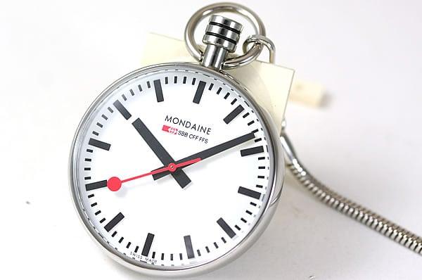 モンディーン懐中時計 鉄道時計