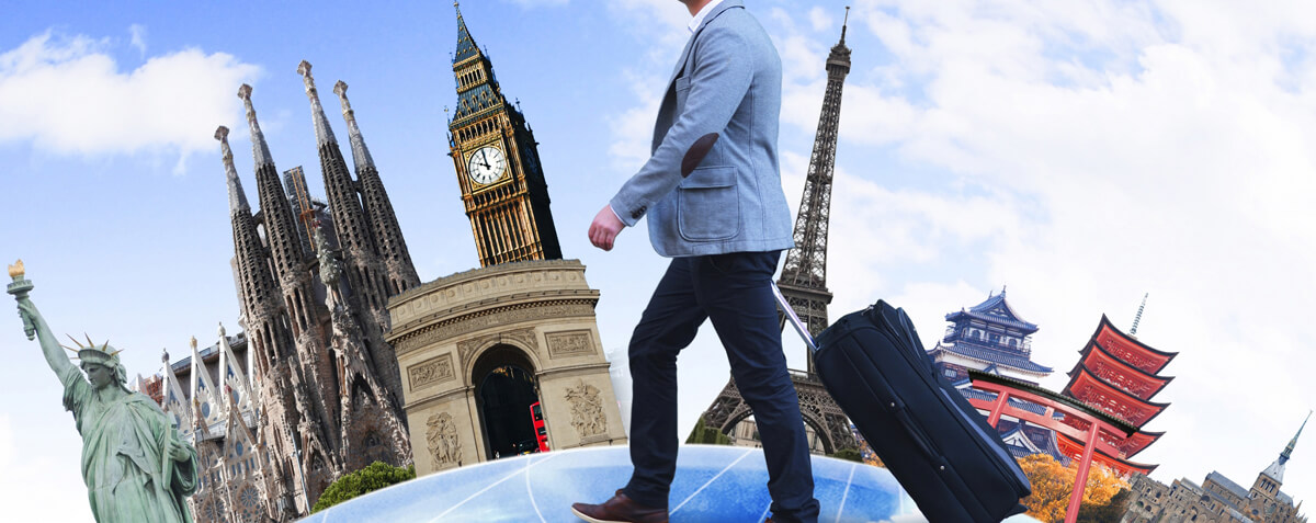 海外旅行や出張に役立つデュアルタイム機能